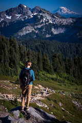 Standing in Mt. Rainier (kephart_kyle) Tags: adventure beautiful hood landscape national oregon park rainier sunset travel trip washington