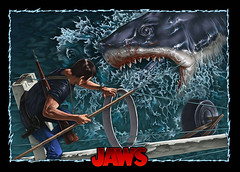 Jaws poster commission (phrenan) Tags: jaws shark commission movieposter sea illustration