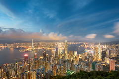 DSC_0137-編輯 (WesleyYang 佳霖) Tags: 香港 盧吉道觀景台 山頂 太平山 維多利亞港 hongkong 夜景 nightview