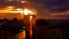 Beer and sea (BalkanPhotos) Tags: beer sea sunset contrast sun light montenegro tuborg red orange sky glass crna gora more nebo pivo casa piva