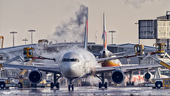 Delta Boeing 767-300 is being de-iced at Amsterdam Airport Schiphol (PH-OTO) Tags: air aircraft airline airlines airplane airport avgeek aviation aviationdaily aviationgeek avporn canon civil eos fighter fighterjet flight fly force general helicopter jet military photo photography photos pilot plane planespotting private sky spotting deicing de icing delta boeing 767300 767 amsterdam schiphol winter snow