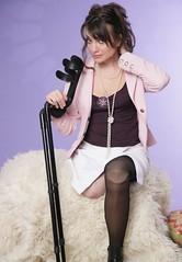 amp-1801 (vsmrn) Tags: amputee woman crutches onelegged nylon pantyhose