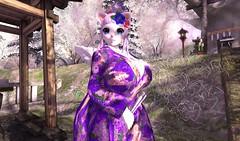 Kimono Hana (SerenitySemple) Tags: secondlife sl furry fashion barerose kyokocouture theseasonsstory pinkhustler kimono japanese anime animehead kawaii