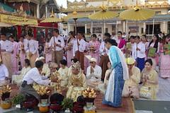 Ordination ceremony for novice Buddhist monks, Shwedagon Pagoda, Yangon (19) (Prof. Mortel) Tags: myanmar burma yangon rangoon buddhist pagoda shwedagon monks