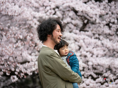 father and daughter (kasa51) Tags: people street park cherryblossom hanamiparty 花見 父と娘 tokyo japan father daughter