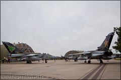 Tornado Farewell Open Day - RAF Marham (elevationair ✈) Tags: egym knf raf marham rafmarham military panavia tornado gr4 panaviatornadogr4 fastjets avgeek aviation airplane plane apron bats goldstars zg752 zd716 zg775 9squadron 31squadron camojet camjet