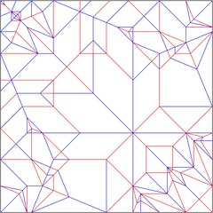 Blue-Green Chromis Crease Pattern (folding~well) Tags: origami paper folding creasepattern crease pattern