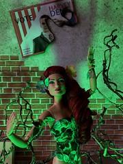 Growing in Gotham (MaxxieJames) Tags: poison ivy dc dcu pamela isley batman gotham city arkham asylum green doll collector custom ooak villain mattel