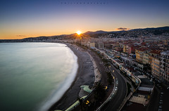 Greetings from Nice. (Emykla) Tags: sunset tramonto nizza nice france francia nikond3100 city mare sea colori colors beach spiaggia costaazzurra cotedazur