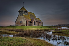 St Thomas a becket (Jez22) Tags: stthomasabecket church fairfield remote isolated water river stream waterway field worship religious marsh kent england weather marshland dykes lonely copyright jeremysage