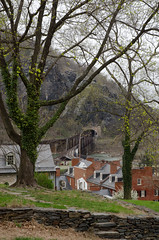 Harper's Ferry View (SomeoneSaidFire) Tags: hill trees tunnel railroad brick colonial