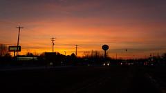 Sunset (joeldinda) Tags: canon powershotg9xii g9x 2019 michigan eatoncounty grandledge sky sunset watertower tree cloud poles 4436 february