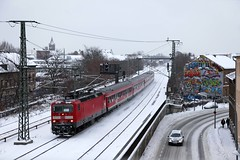 DB 143 817 + RB 28532 Berlin Ostbahnhof – Potsdam Hbf  - Potsdam Babelsberg (Rene_Potsdam) Tags: br143 railroad treinen trains züge trenes potsdam brandenburg deutschland europe europa deutschebahn potsdambabelsberg