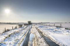 Netheravon to Everleigh Road in the Snow (stevedewey2000) Tags: salisburyplain wiltshire landscape road snow netheravon haxton everleigh sigma2470 blue white