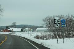 NY426 North Chautauqua CR4 Signs (formulanone) Tags: newyork snow ny426 426
