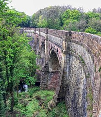 Marple Aqueduct (Philip#Turner) Tags: bridge canal aqueduct peak cheshire marple engineering forest river goyt