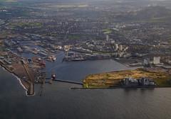 Leith Docks, Edinburgh (Niall Corbet) Tags: aerial aerialphoto scotland edinburgh leith dock harbour port