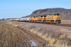 Winter of Discontent (H-bob-omb) Tags: union pacific up 2579 ge et44ah locomotive train maeystown illinois railroad