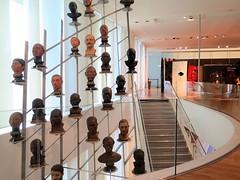 Musée de l'Homme, Paris (Sokleine) Tags: muséedelhomme museum musée mankind theads sculptures education art culture trocadéro paris 75016 france frenchheritage interior indoor escalier stairs têtes heads
