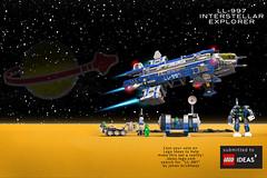 01 Box Art full set lg composite comic (alexeiberteig) Tags: neoclassicspace space lego spaceship spacecraft legoship bennysspaceship 40th anniversary legoideas