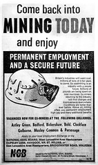 1965, West Lancashire Area Coalfield. Advert from The Leigh Journal (Pitheadgear) Tags: employment recruitment labour poster colliery collieries leigh socialhistory miners uk lancashire coalmining mining coal