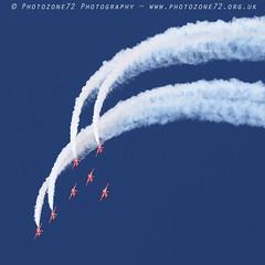 9944 7 ship loop R1 R2 R3 R4 R6 R7 R8 (photozone72) Tags: raf rafat redarrows reds redwhiteblue aviation aircraft jets hawk canon canon100400f4556lii canon7dmk2 7dmk2 scampton lincolnshire