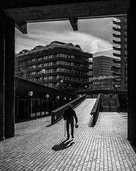 Four-pack (Sam Codrington) Tags: eosr canoneosr bnw mono buildings london brutalist brutalism people monochrome architecture barbican brutalistarchitecture blackandwhite oldman oldboy england unitedkingdom gb
