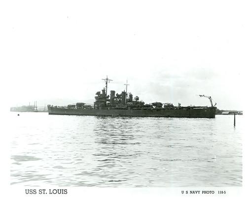 USS St. Louis (CL-49), Cruiser, WWII
