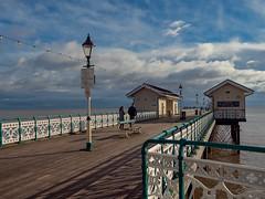 Promenading on the pier (leistus) Tags: penarthpier coasts penarth olympusome5ii olympus124028pro