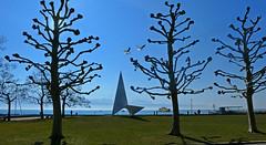 SWITZERLAND - Lausanne - Leman Lake shore (Jacques Rollet (very little available)) Tags: switzerland leman lac lake tree arbre eau contrejour léman lausanne groupenuagesetciel