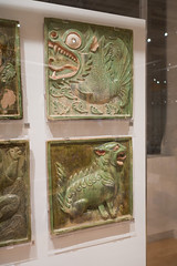 Chinese fish and lion epitaph stones (quinet) Tags: 2017 antik asia canada ontario rom royalontariomuseum toronto ancien antique