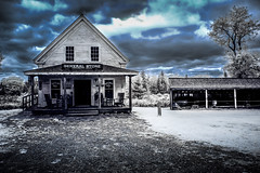 General Store (Steve Muise) Tags: infrared blue old building maine store barn clouds antique