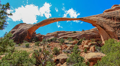 Landscape Arch in Arches National Park, Utah (lhboudreau) Tags: archesnationalpark landscapearch utah park arches arch rock rocks formations lifecycle fallenslabs sandstone thin nationalpark outdoor outdoors landscape stone