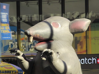 2019 Giant Strike Rat Balloon Corner of 45th St NYC 3831