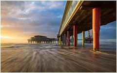Pier Scheveningen (Rob Schop) Tags: denhaag zuidholland sunset motionblur longexposure light pier scheveningen sea waves sonya6000 jackboots samyang12mmf20 wideangle pola nd64 hoyaprofilters