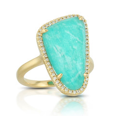 Fashionable 18k Yellow Gold Diamond Ring With Clear Quartz Over Amazonite (diamondanddesign) Tags: fashionable18kyellowgolddiamondringwithclearquartzoveramazonite r7275az 18k yellow gold amazon breeze doves 016 ct rings diamond clear quartz over amazonite front