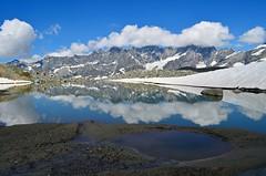 Grandes Mourailles (dino_x) Tags: panorama landscape mountains alpi alps lago lake water acqua montagna allaperto nature riflessi reflections paesaggio roccia neve ghiaccio italy cervino