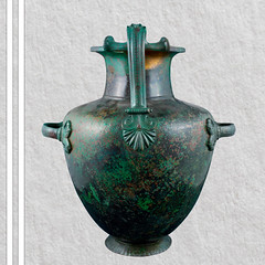 Bronze hydria, part of the Vassil Bojkov Collection (thracefoundation) Tags: ancient art vassilbojkovcollection mythology thrace ancienthistory artifact artefact history thracefoundation ancientgreece hydria
