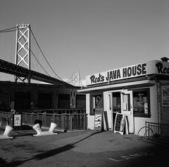 Red's Java House, San Francisco (austin granger) Tags: redsjavahouse sanfrancisco reds baybridge waterfront bayarea northerncalifornia sign square film gf670