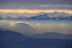 Pré alpes genevois (GastonGraphy) Tags: landscape mountains mountainscape nature alpes hautesavoie montagnes hiver winter light sunrise