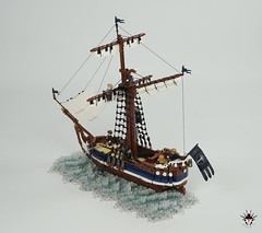 Numenorean sailship Eämbar - stern (Barthezz Brick) Tags: boat ship sailboat sailship lotr middleearth middle earth lordoftherings tolkien mariners seamen fantasy medieval moc afol barthezz brick barthezzbrick lond daer