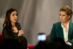S.A.R. la Grande-Duchesse et Nadia Murad, présidente de « Nadia's Initiative », lauréate du Prix Nobel de la Paix 2018, lors de d'une table ronde (Stand Speak Rise Up) Tags: cgdlforuminternationalstand speak rise upluxembourgv luxembourgville luxembourg upluxembourgvilleeuropeanconventioncenterluxembourg26032019photoclaudepiscitelli