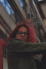 Camila Moraes   50mm (Habittart) Tags: red redhead dramatic drama dark dslr art vsco tumblr city photography town green pink portrait 50mm canon