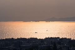 saronic (athanecon) Tags: alimos sea saronikos saronic boats ships sunset dusk salamis salamina