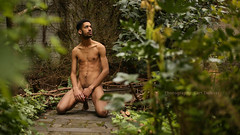 IMG_0449h (Defever Photography) Tags: male model black jamaica fit slim fashion art portrait naked nude garden green