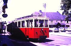 Slide 135-69 (Steve Guess) Tags: tram tramway streetcar strassenbahn strasenbahn трамвай nmvb sncv vicinal belgium belgique belgien belgië бельгия grottes han caves diesel ardennes hansurlesse