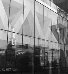 Baltimore Reflection (david.sarian) Tags: abstract reflection blackandwhite architecture film monochrome baltimore