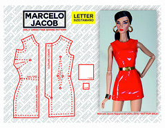 LETTER MARCELO JACOB DOLLY DRESS SEWING PATTERN (marcelojacob) Tags: marcelo jacob sewing patter doll barbie fashion royalty nuface poppy parker