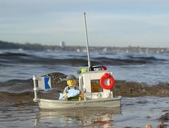 Fischkutter (mal wieder) (captain_joe) Tags: toy spielzeug 365toyproject lego minifigure minifig kiel hasselfelde strand beach wasser water sky himmel fischkutter