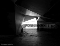 Caixa forum, by Herzog and De Meuron (joannab_photos) Tags: herzogetdemeuron contrasts caixaforum madrid geometry géométrie architecture light shadows
